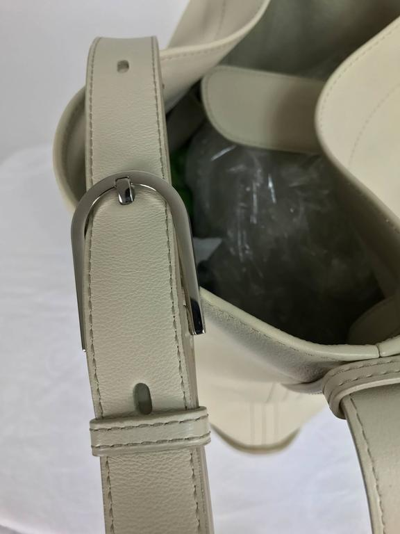 Delvaux ivory leather pin holdall shoulder bag 6