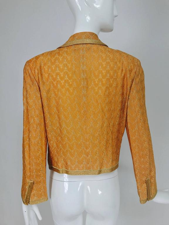 Missoni coral and gold metallic knit single button front cropped jacket Unworn 7
