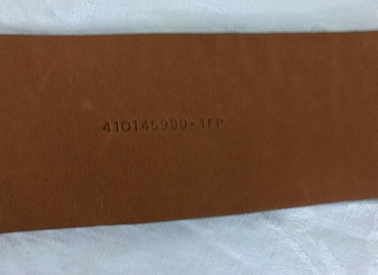 Women's or Men's Ralph Lauren wide brown alligator belt with heavy silver buckle M For Sale