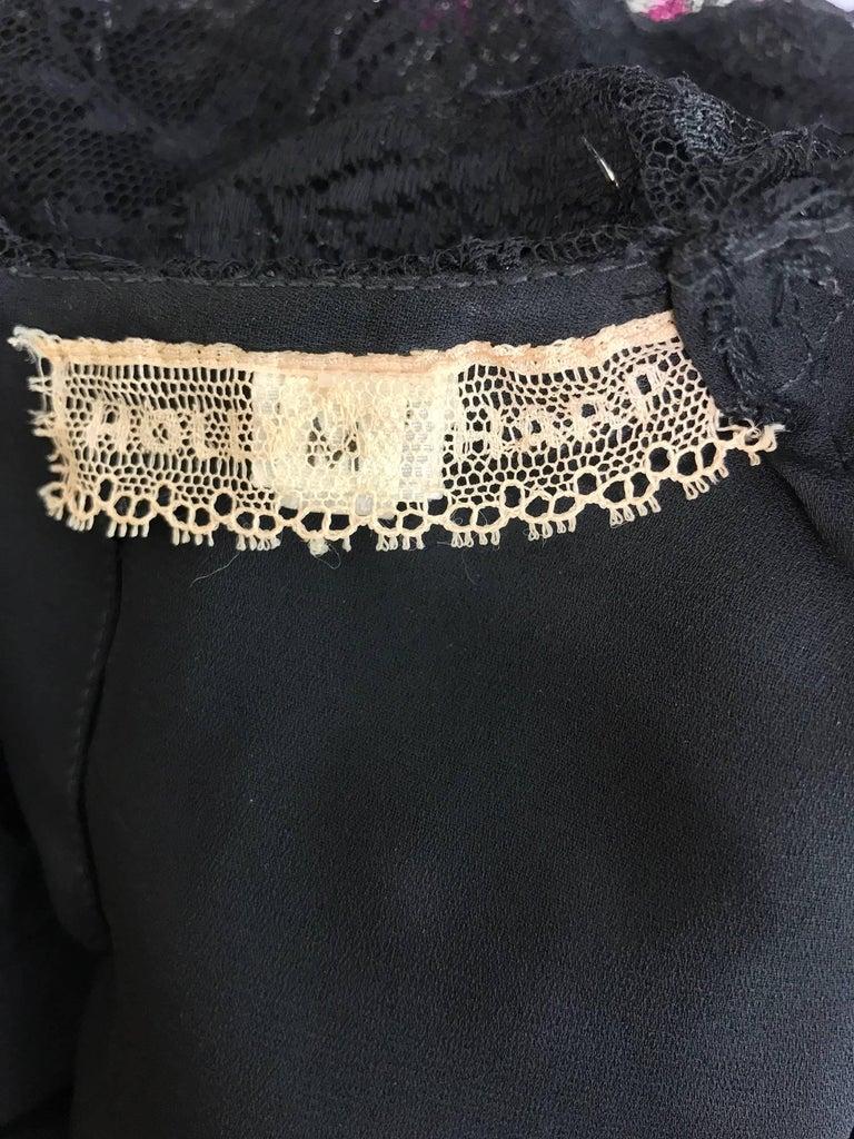 Vintage Holly Harp black lace cape back dress 1980s 10
