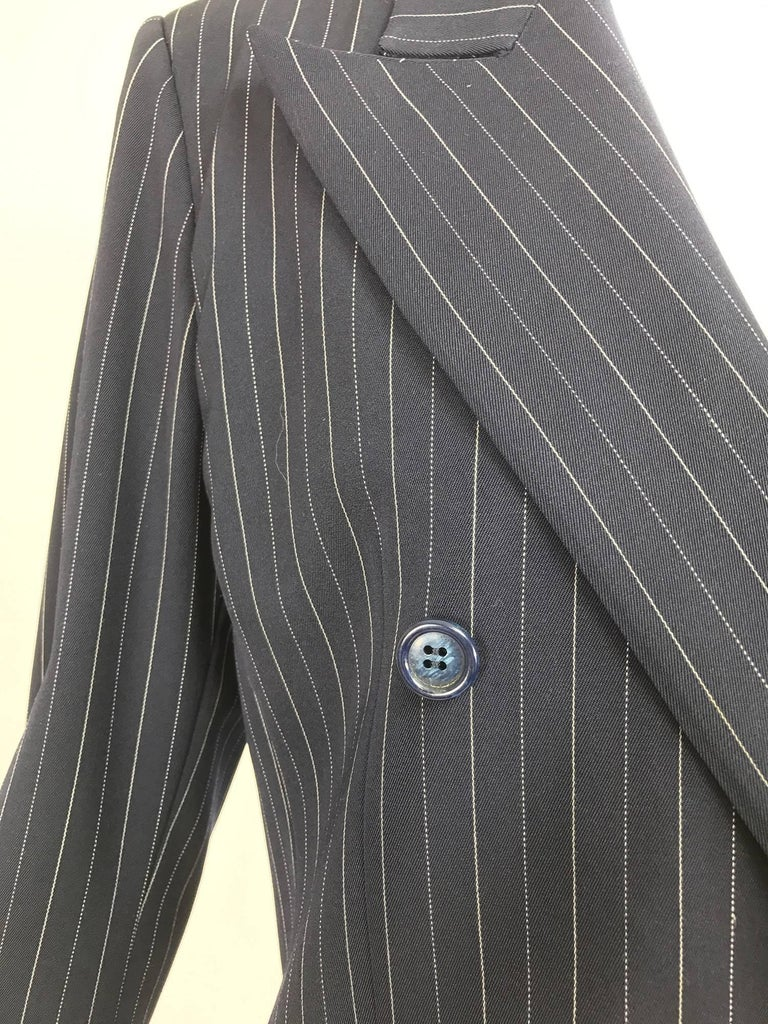 Yves Saint Laurent couture pin stripe double breasted gangster jacket 1967 2