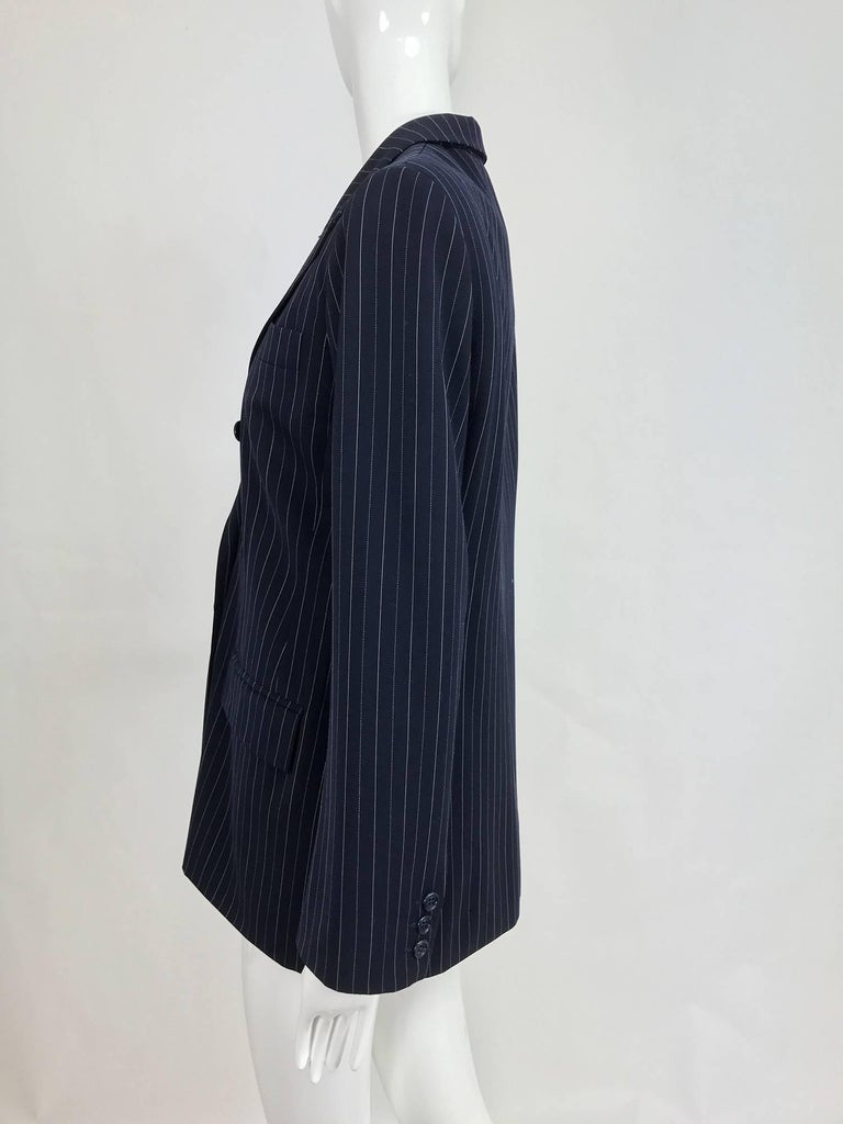 Yves Saint Laurent couture pin stripe double breasted gangster jacket 1967 4
