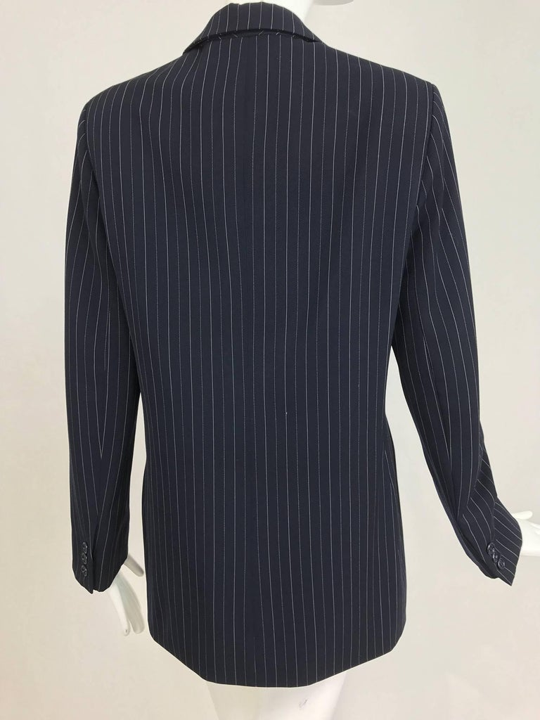Yves Saint Laurent couture pin stripe double breasted gangster jacket 1967 5
