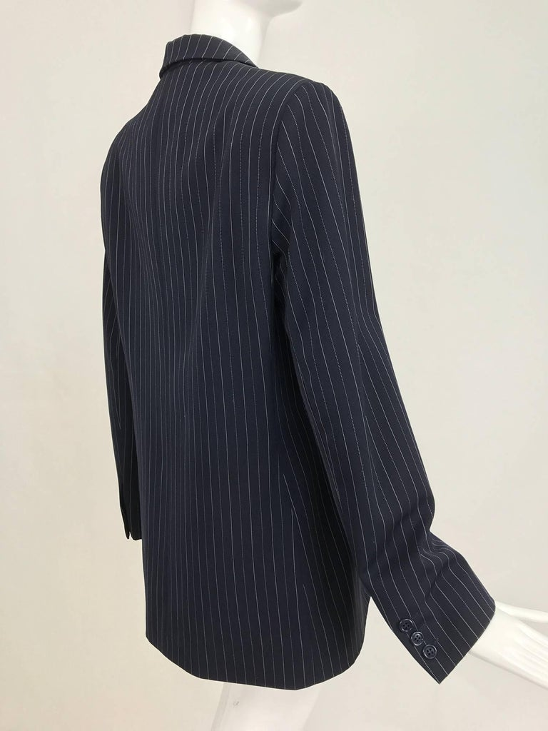 Yves Saint Laurent couture pin stripe double breasted gangster jacket 1967 6