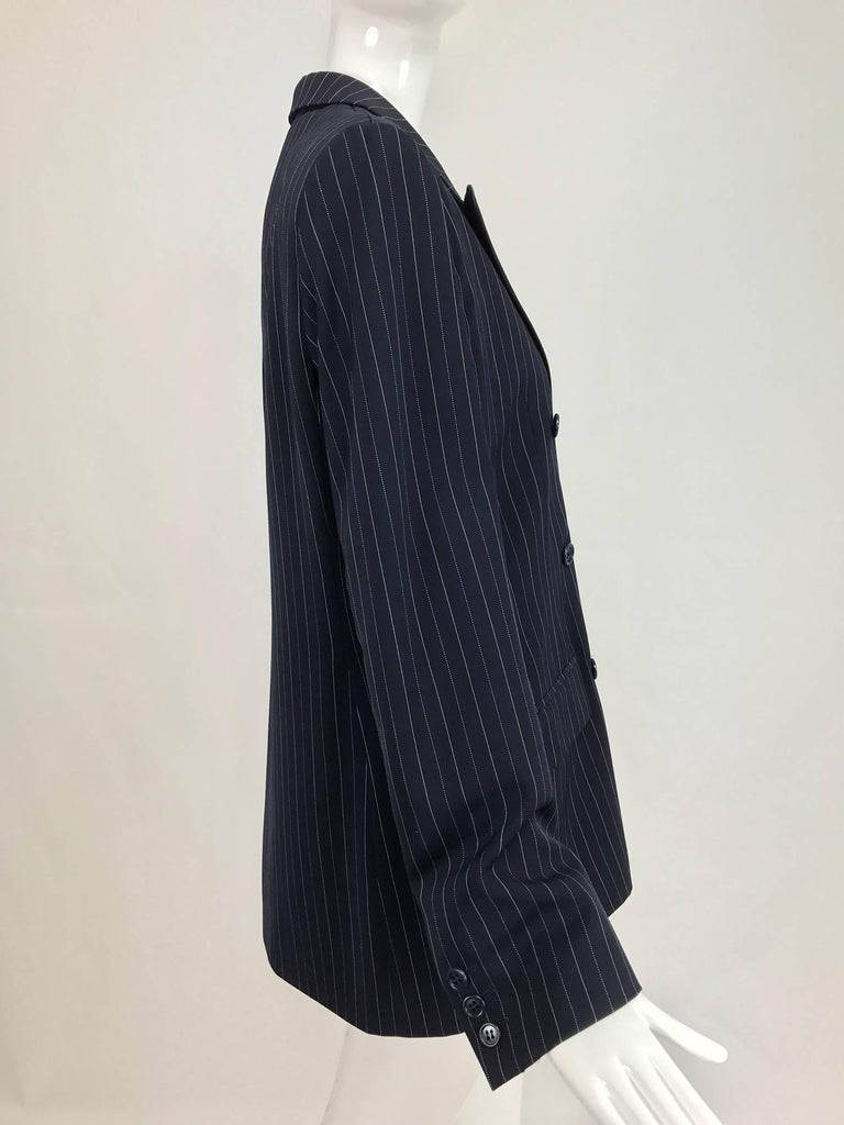 Yves Saint Laurent couture pin stripe double breasted gangster jacket 1967 7