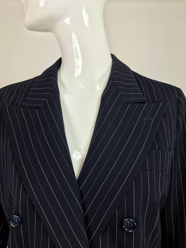 Yves Saint Laurent couture pin stripe double breasted gangster jacket 1967 9