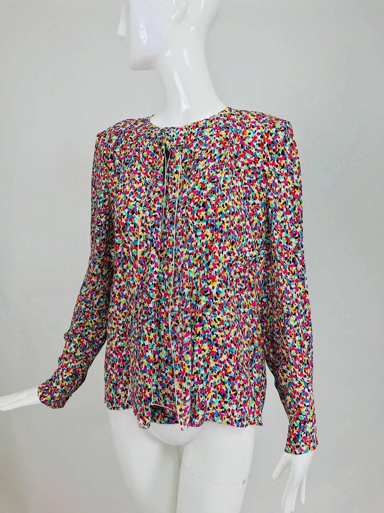 Chanel Silk confetti p...