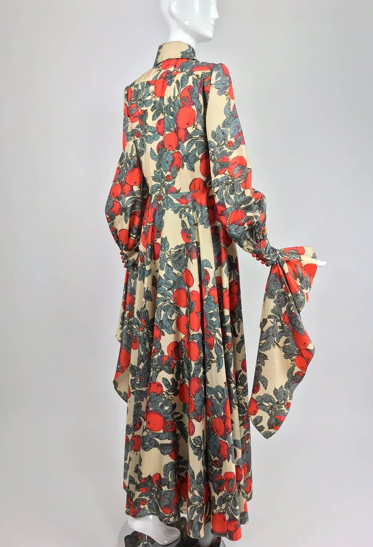 John Bates iconic apple print dress for Jean Varon  1970s For Sale 1