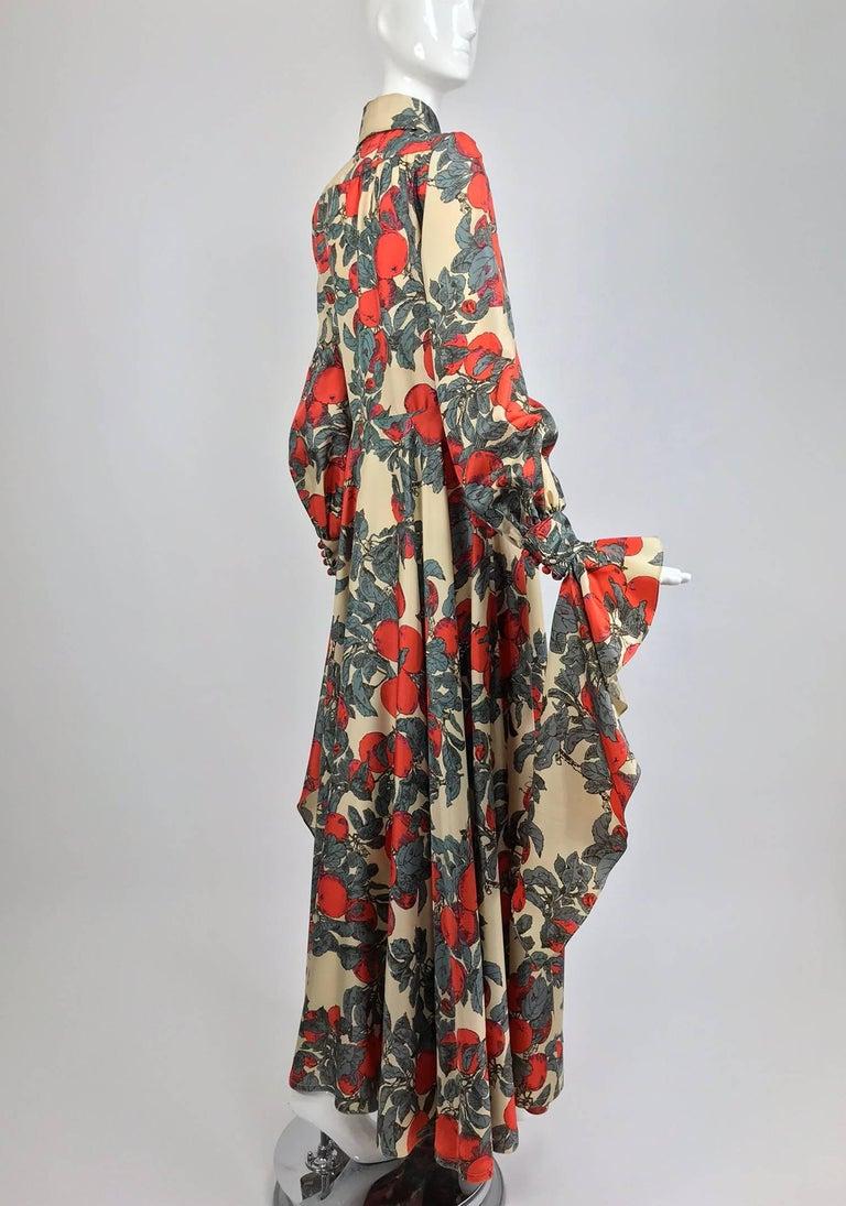 John Bates iconic apple print dress for Jean Varon  1970s For Sale 2