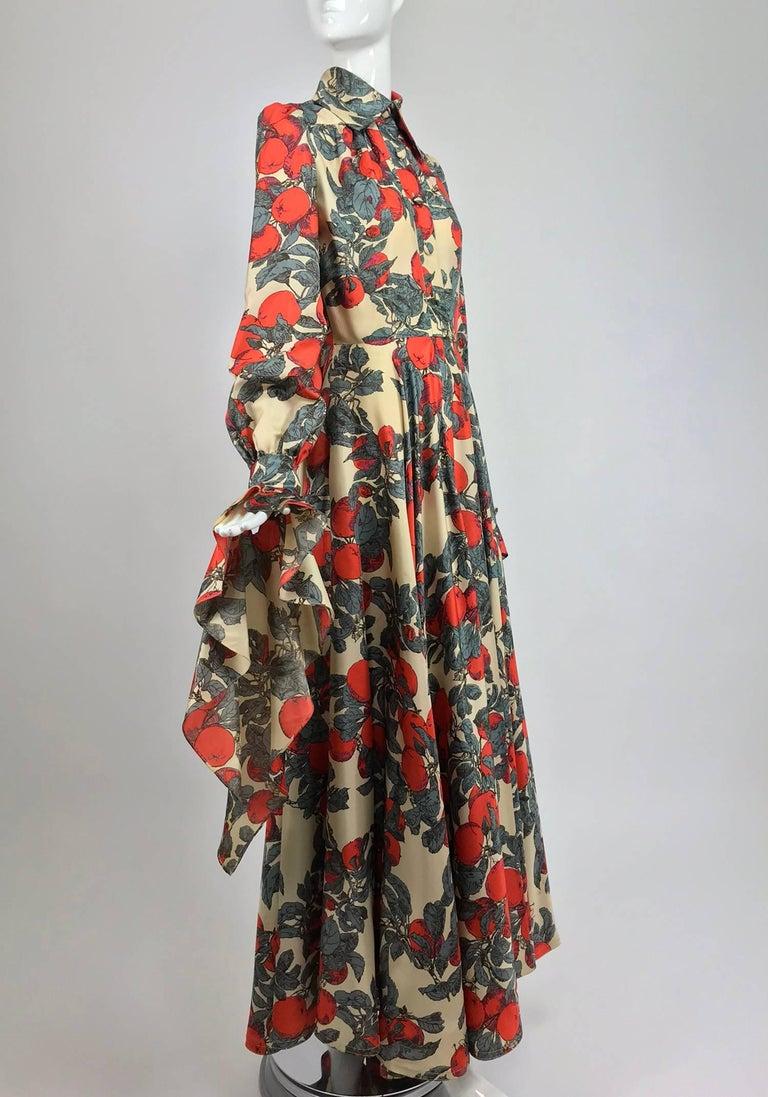 John Bates iconic apple print dress for Jean Varon  1970s For Sale 3