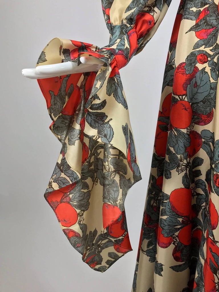 John Bates iconic apple print dress for Jean Varon  1970s For Sale 4
