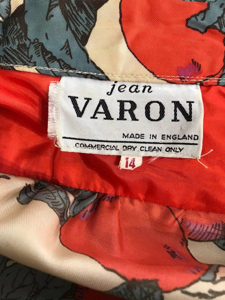 John Bates iconic apple print dress for Jean Varon  1970s For Sale 5