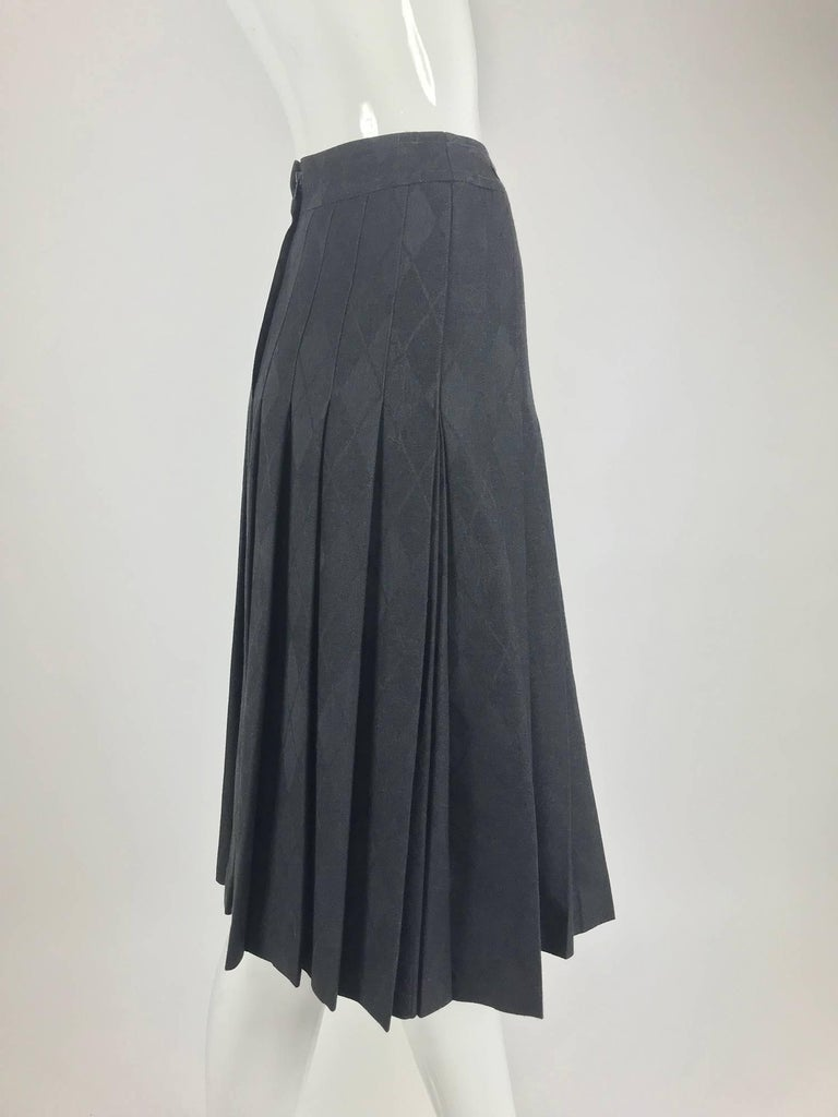 cba3960521a501 Celine grey wool jacquard pleated skirt 1990s For Sale at 1stdibs