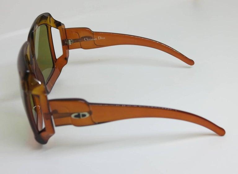 Christian Dior Dark Amber Big Square sunglasses, 1970s 4
