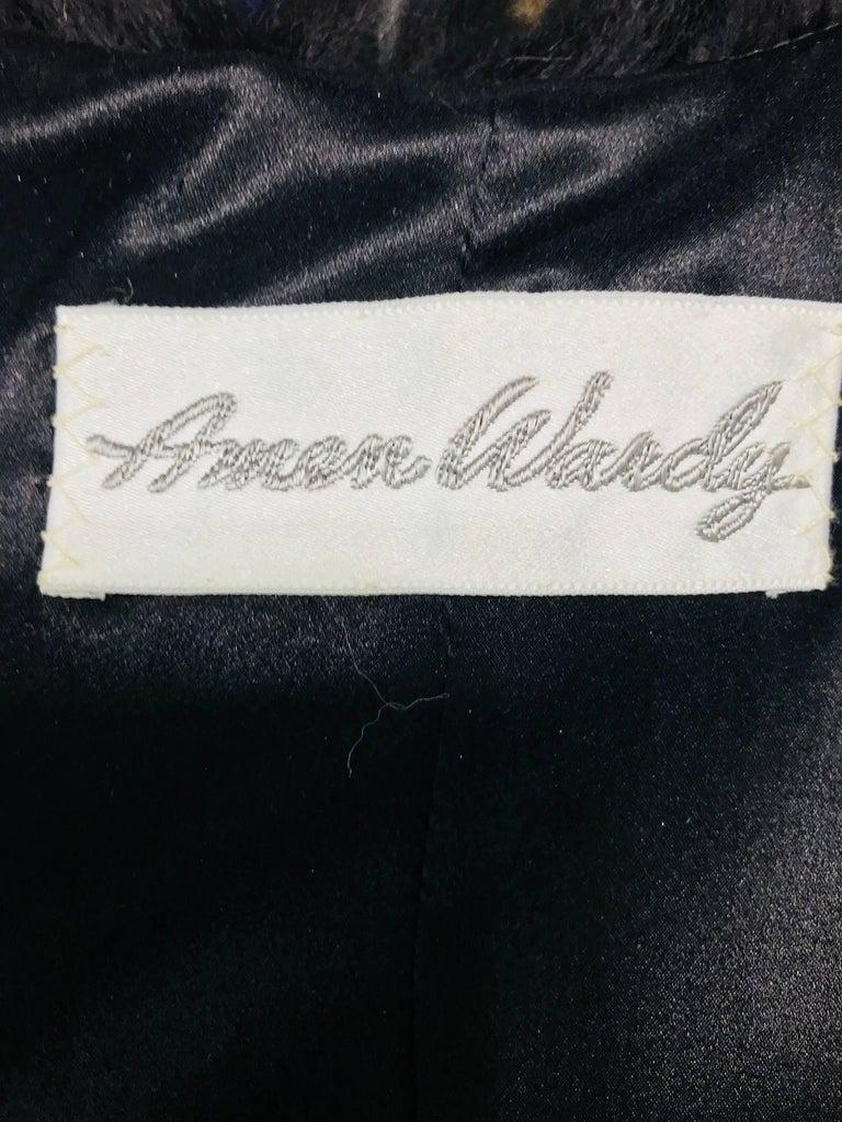 Amen Wardy Gold Metallic brocade and black fox fur trim cocoon coat 1980s For Sale 3