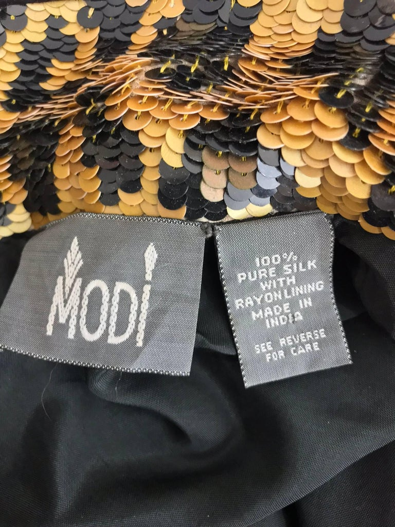 Modi Novelty Sequined Leopard Bomber jacket 1980s 9