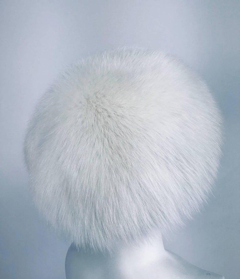 Women's White fox hat 1960s  For Sale