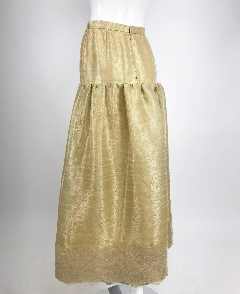 Women's Emanuel Ungaro Studio Couture gold spun silk organza evening skirt For Sale