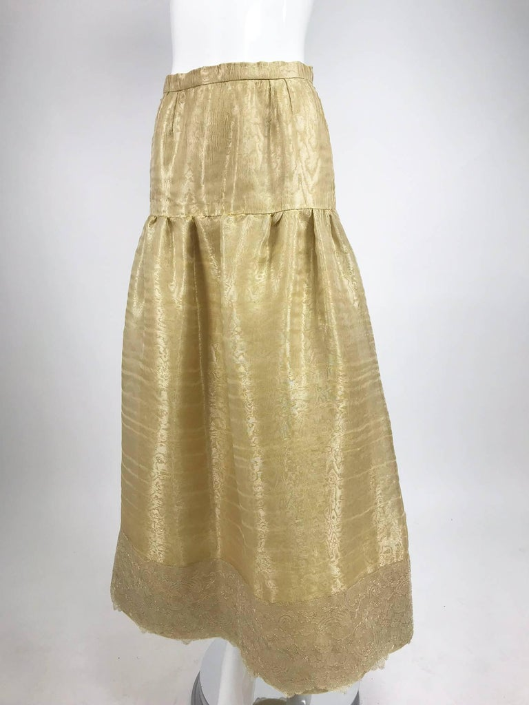 Emanuel Ungaro Studio Couture gold spun silk organza evening skirt For Sale 1