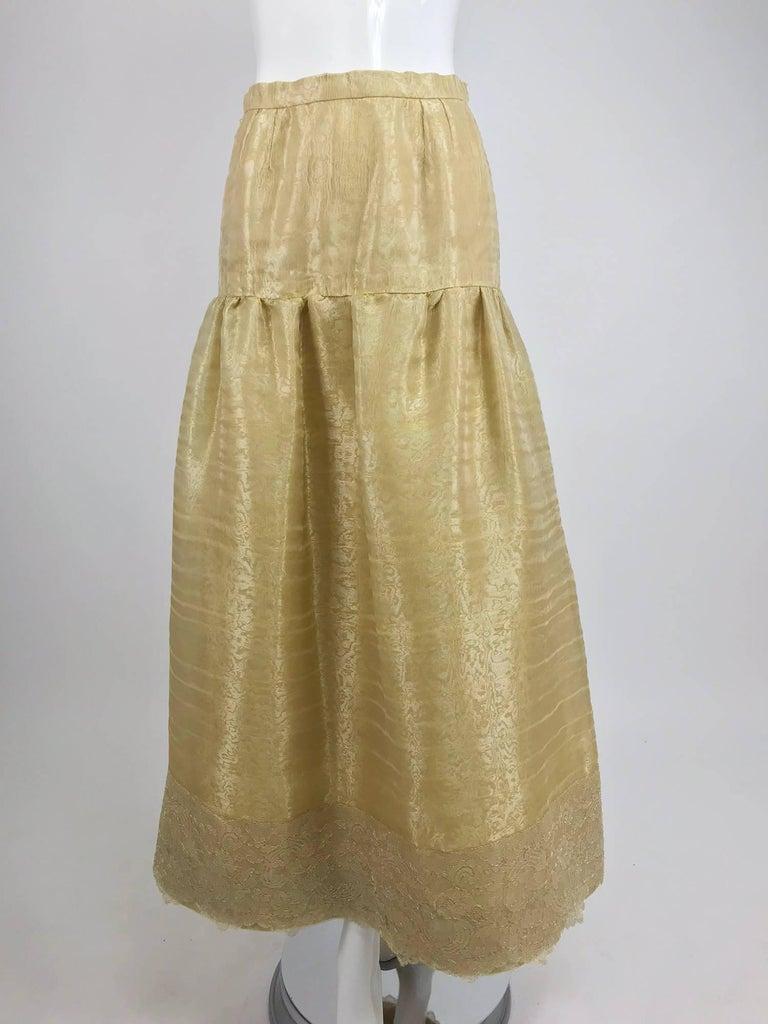 Emanuel Ungaro Studio Couture gold spun silk organza evening skirt For Sale 2
