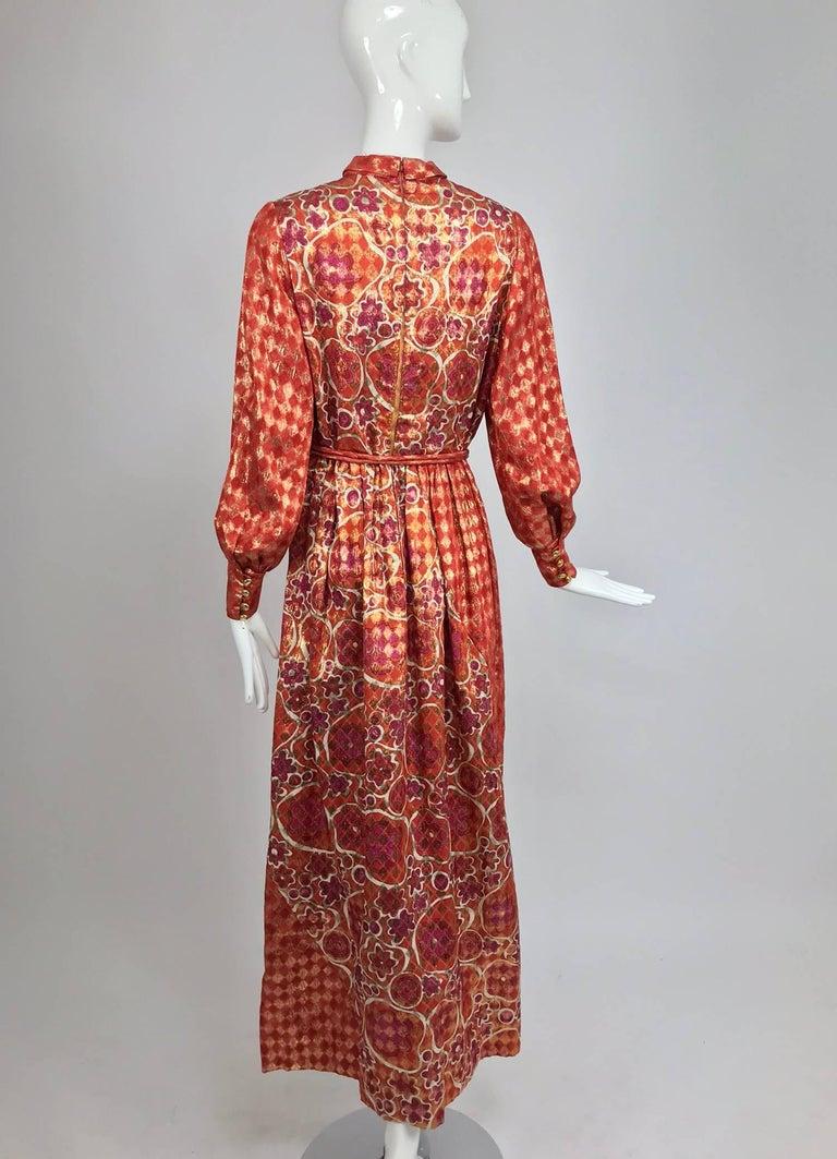 Dior Boutique Paris by Marc Bohan numbered 1960s metallic brocade maxi dress  5
