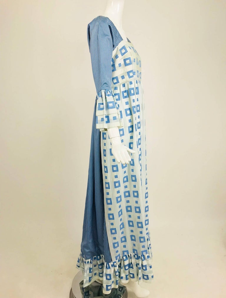 Tina Leser Original blue and white cotton maxi dress, 1960s For Sale 6