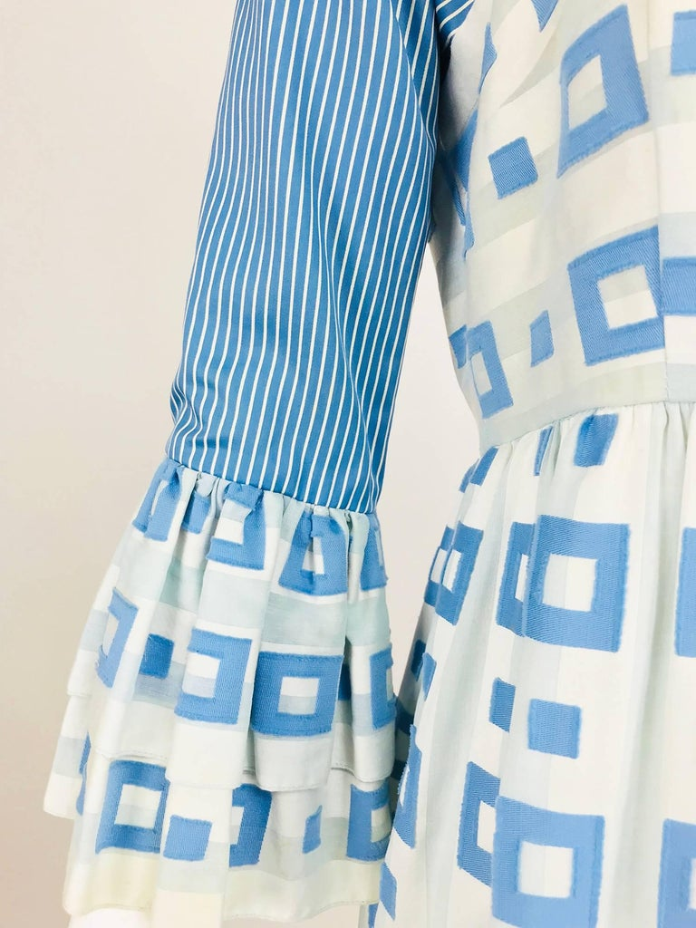 Tina Leser Original blue and white cotton maxi dress, 1960s For Sale 9