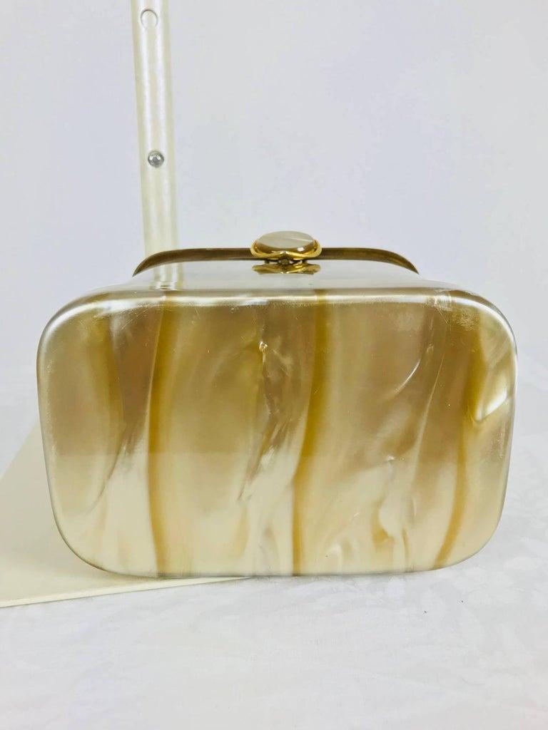 Stylecraft Miami pearlized Lucite handbag 1960s For Sale 1