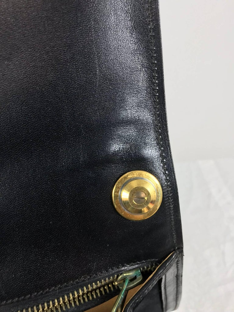 Gucci black suede and leather Blondie shoulder bag with gold hardware, 1970s  For Sale 5