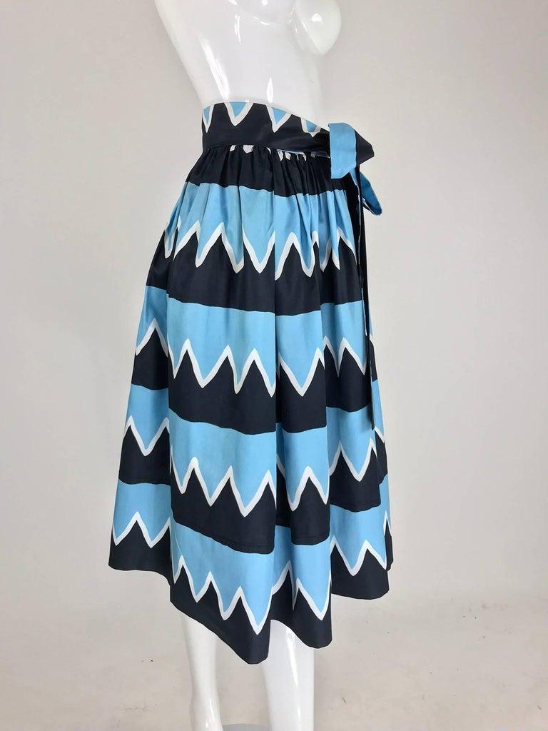 Black Yves Saint Laurent Iman worn documented cotton skirt, S / S 1980 For Sale