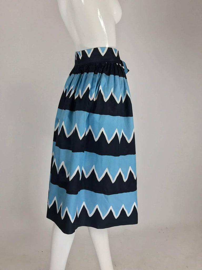 Yves Saint Laurent Iman worn documented cotton skirt, S / S 1980 In Excellent Condition For Sale In West Palm Beach, FL