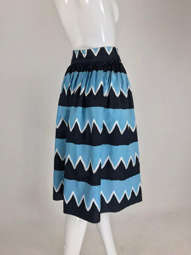 Women's Yves Saint Laurent Iman worn documented cotton skirt, S / S 1980 For Sale