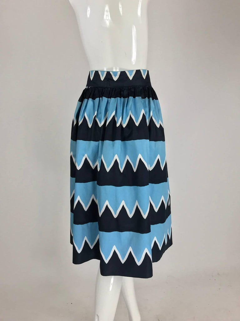 Yves Saint Laurent Iman worn documented cotton skirt, S / S 1980 For Sale 1