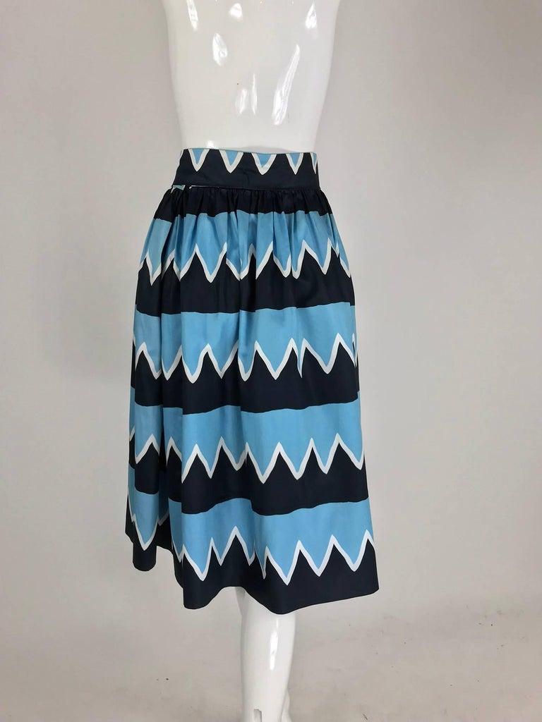 Yves Saint Laurent Iman worn documented cotton skirt, S / S 1980 For Sale 2