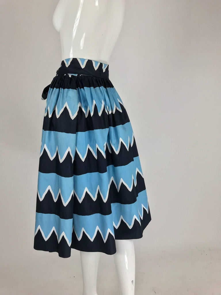 Yves Saint Laurent Iman worn documented cotton skirt, S / S 1980 For Sale 3