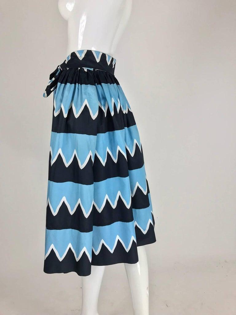 Yves Saint Laurent Iman worn documented cotton skirt, S / S 1980 For Sale 4