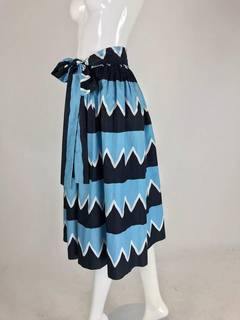 Yves Saint Laurent Iman worn documented cotton skirt, S / S 1980 For Sale 5