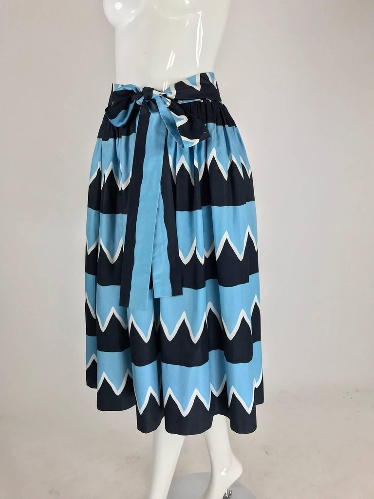 Yves Saint Laurent Iman worn documented cotton skirt, S / S 1980 For Sale 6