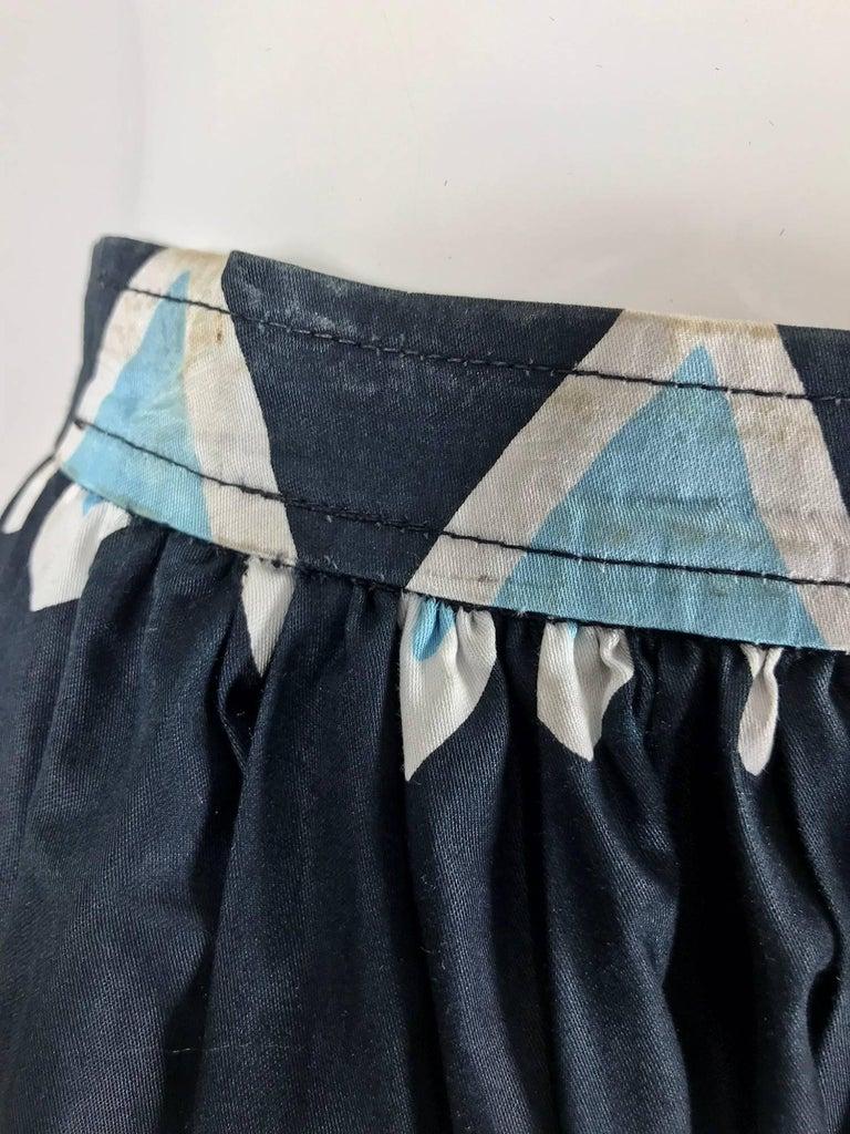 Yves Saint Laurent Iman worn documented cotton skirt, S / S 1980 For Sale 7