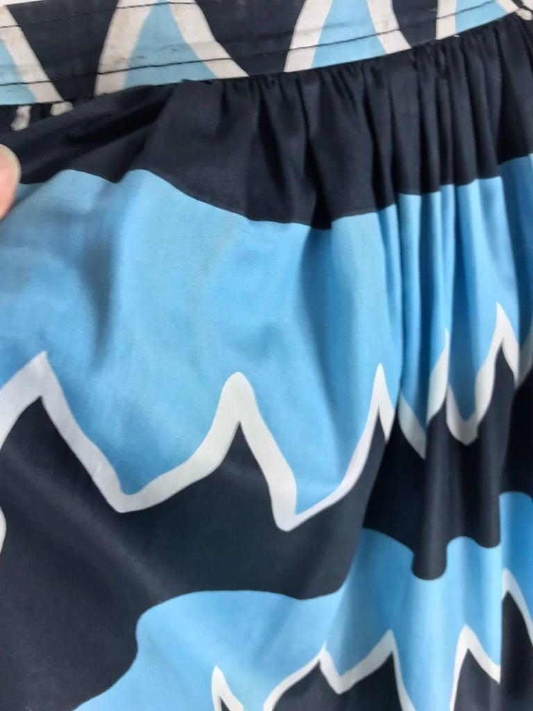 Yves Saint Laurent Iman worn documented cotton skirt, S / S 1980 For Sale 8