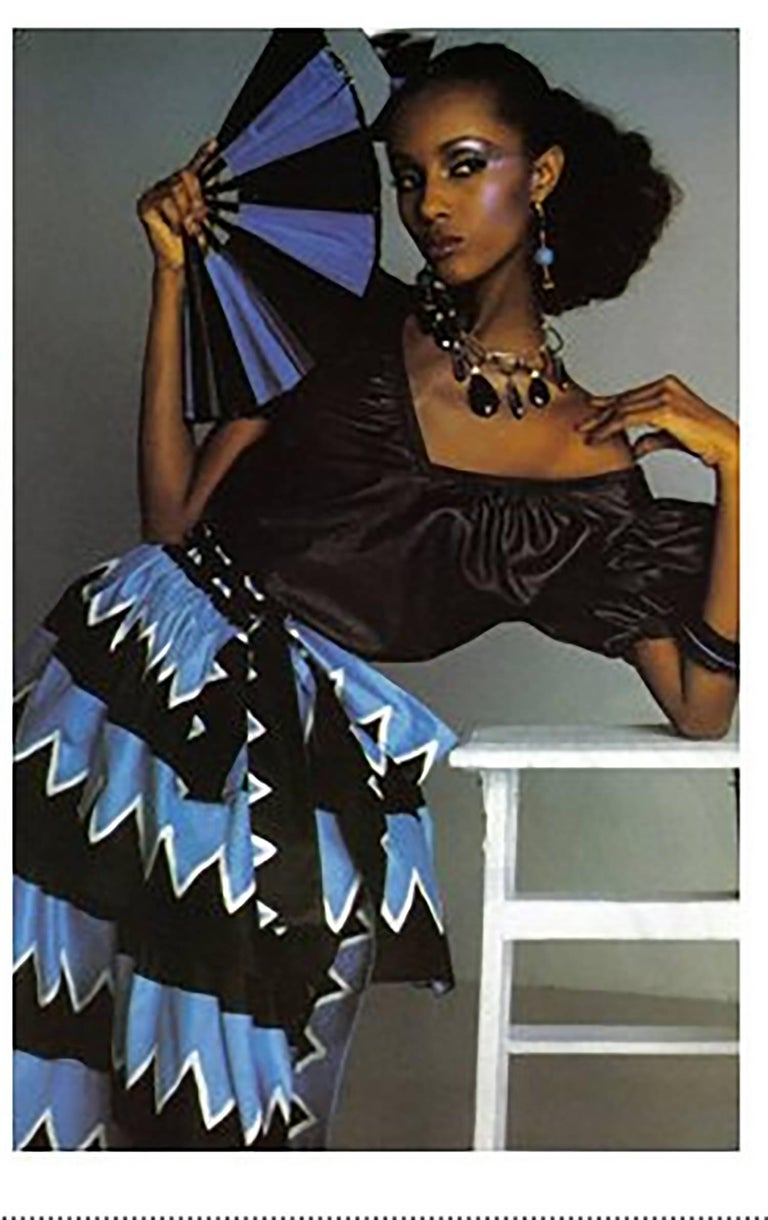 Yves Saint Laurent Iman worn documented cotton skirt, S / S 1980 For Sale 9