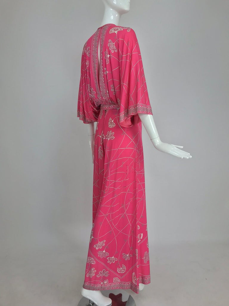Emilio Pucci silk jersey plunge top and palazzo trousers, 1970s For Sale 1