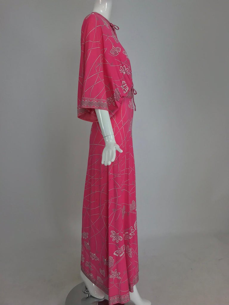 Emilio Pucci silk jersey plunge top and palazzo trousers 6c5a5e8d3