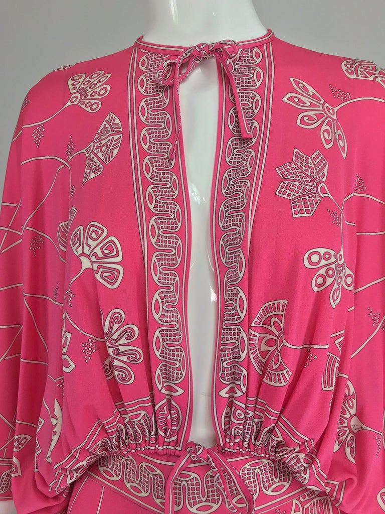 Emilio Pucci silk jersey plunge top and palazzo trousers, 1970s For Sale 7