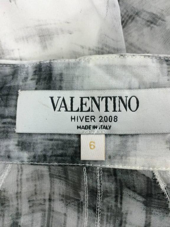Valentino Hiver 2008 black & white organza blouse For Sale 6