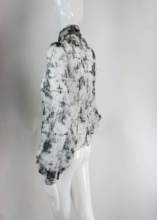 Valentino Hiver 2008 black & white organza blouse 4