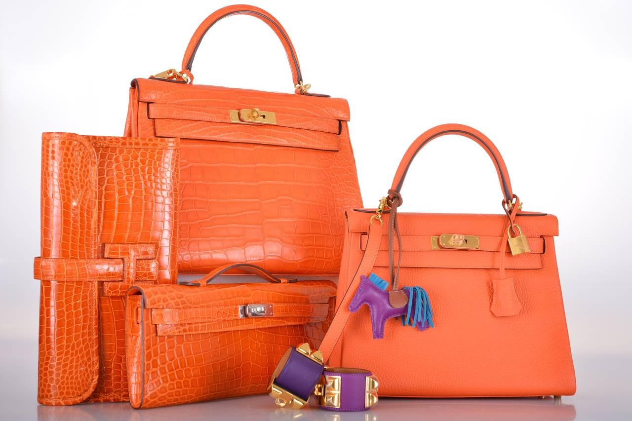 best hermes birkin replica handbags - HERMES KELLY BAG 28cm FEU FIRE ORANGE TOGO GOLD HARDWARE JaneFinds ...