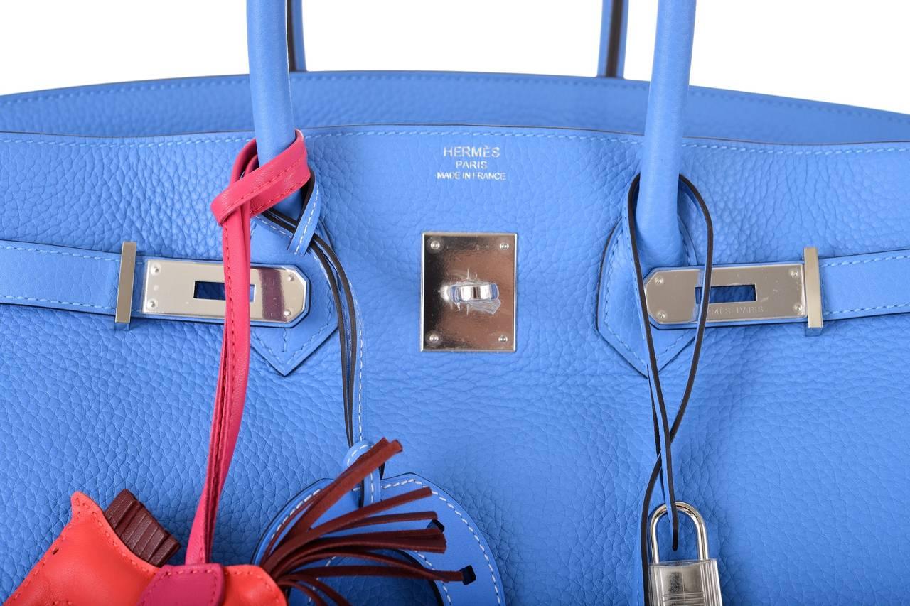birkin bags sale - hermes birkin blue paradise clemence 35cm gold hardware, used ...