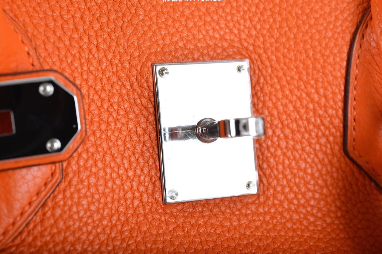 hermes birkin bag shoulder jpg orange 42cm 2 pall hardware janefinds