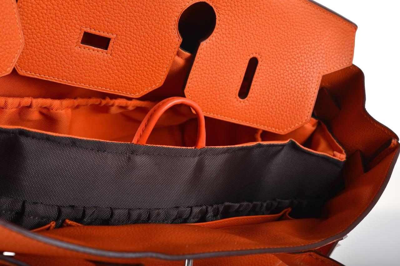 fake birkin bag for sale - HERMES BIRKIN BAG SHOULDER JPG ORANGE 42cm #2 PALL HARDWARE ...